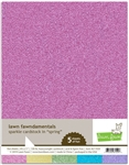 Lawn Fawn - 8.5x11 Sparkle Cardstock Spring