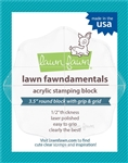 "Lawn Fawn - Acrylic Block 3.5"" Round Grip with Grid"