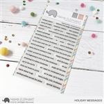 Mama Elephant - Holiday Messages Stamp Set