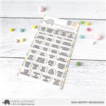 Mama Elephant - Mini Merry Messages Stamp Set
