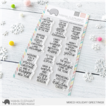 Mama Elephant - Mixed Holiday Greetings Stamp Set