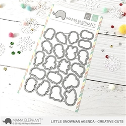 Mama Elephant - Little Snowman Agenda Creative Cuts