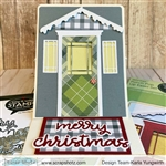 Poppy Stamps - Winter Porch Pop Up Easel Die Set