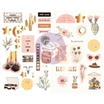 Prima - Golden Desert Chipboard Stickers 42/Pkg