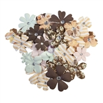 Prima - Golden Desert Mulberry Paper Flowers