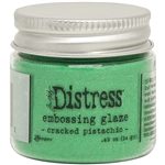 Ranger -  Distress Embossing Glaze Cracked Pistachio