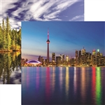 Reminisce - 12X12 Patterned Paper Toronto Skyline