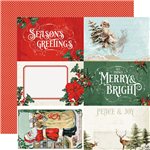 Simple Stories - Country Christmas Double-Sided Cardstock 12x12 4X6 Elements