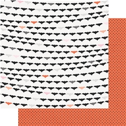Simple Stories - Happy Haunting Double-Sided Patterned Paper Going Batty