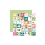 Simple Stories - Hip Hop Hooray Double-Sided Cardstock 12x12 - 2x2 Elements