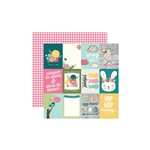 Simple Stories - Hip Hop Hooray Double-Sided Cardstock 12x12 - 3x4 Elements