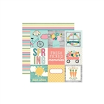 Simple Stories - Hip Hop Hooray Double-Sided Cardstock 12x12 - 4x4 Elements