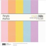 Simple Stories - Color Vibe Double-Sided Textured Paper Pack 6/Pkg Spring