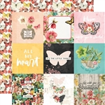 Simple Stories - Simple Vintage Cottage Fields Double-Sided Cardstock 12X12 Elements 4X4