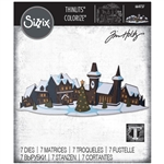 Sizzix Tim Holtz - Thinlits  Holiday Village Colorize