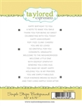 Taylored Expressions - Simple Strips Stamp Set Background