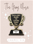 The Gray Muse - Excellence Award For Sending Happy Mail Enamel Pin