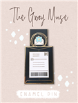 The Gray Muse - Happy Mail Slider Enamel Pin (Black)