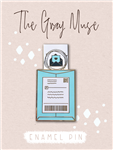 The Gray Muse - Happy Mail Slider Enamel Pin (Turquoise)
