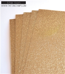 The Ton Stamps - Adhesive Glitter Paper Glossy Fine Golder