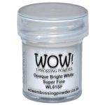 Wow! Embossing Powder Opaque Bright White Super Fine 15 ml