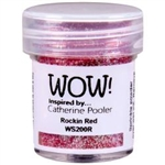Wow! Embossing Powder Glitter Rockin Red 15 ml