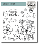 Wild Whisper Designs - Nicole Wright Fanciful Bloom 6x6 Stamp