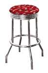 "Bar Stool 24"" or 29"" Tall Featuring a Badgers Football Team Logo Fabric Covered Swivel Seat Cushion"