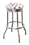 "Bar Stool 24"" or 29"" Tall Featuring a Buckeyes Football Team Logo Fabric Covered Swivel Seat Cushion"