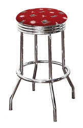 "1 - 24"" or 29"" Bar Stool Featuring a Crimson Tide A Football Team Logo Fabric Covered Swivel Seat Cushion"
