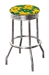 "Bar Stool 24"" or 29"" Tall Featuring a Ducks Football Team Logo Fabric Covered Swivel Seat Cushion"