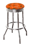 "Bar Stool 24"" or 29"" Tall Featuring a Gators Football Team Logo Fabric Covered Swivel Seat Cushion"
