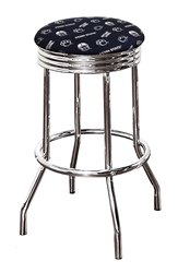 "1 - 24"" or 29"" Bar Stool Featuring a Lions Nittany Football Team Logo Fabric Covered Swivel Seat Cushion"