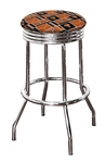 "Bar Stool 24"" or 29"" Tall Featuring a Longhorns Football Team Logo Fabric Covered Swivel Seat Cushion"