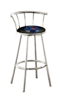 barstools chrome bar stools stool swivels foot rest ring cushion seat cave man chair chairs diner metal dining finish pad padded pub pubstools restaurant