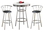 Bar Table Pub Set Barstool Barstools Stool Stools Metal Black Black Bar Table bistro table set kitchen table sets apartment table dorm table set man cave mancave