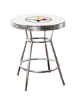 PITTSBURGH STEELERS WHITE BAR TABLE