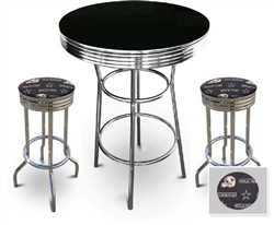 3 piece pubbar table set with 2 29 swivel stools featuring 3 piece pubbar table set with 2 29 swivel stools featuring dallas cowboys nfl fabric watchthetrailerfo