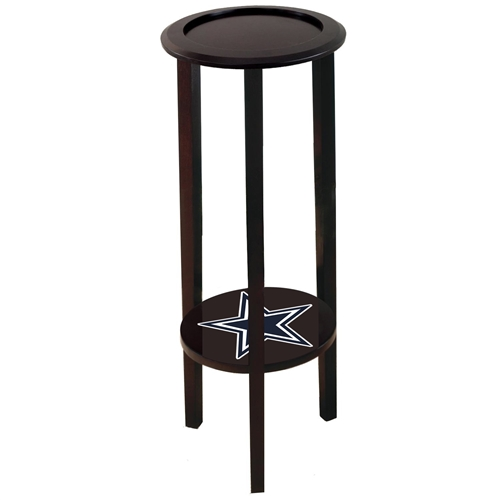 Cappuccino / Espresso Finish End Table Plant Stand Featuring a Dallas  Cowboys Team Logo Decal