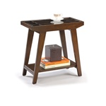 Chairside Table in an Espresso / Cappuccino Finish with Draw Table Living Room wood wooden accent table apartment accent table wood wooden furniture  living room end table side table traditional modern bedroom living room furniture nightstand accent table