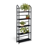 5 Tier Black Metal Shelf Plant Stand wall shelf wallshelf book shelves bookshelves bookcase book case bookcases man cave mancave