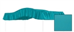 "Start a new tradition or carry on an old one with this special, custom made, full size, solid turquoise canopy.  Dimensions are approximately 44"" wide x 89"" long with a 10"" drop on the ruffle."