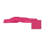 "Start a new tradition or carry on an old one with this special, custom made, twin size, Hot Pink Eyelet canopy.  Dimensions are approximately 44"" wide x 89"" long with a 10"" drop on the ruffle."