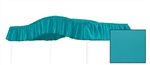 "Start a new tradition or carry on an old one with this special, custom made, solid turquoise, twin size canopy.  Dimensions are approximately 44"" wide x 89"" long with a 10"" drop on the ruffle."
