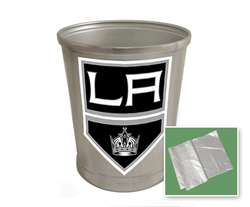 New Brushed Aluminum Finish Trash Can Waste Basket featuring Sacramento Kings Sports Logo