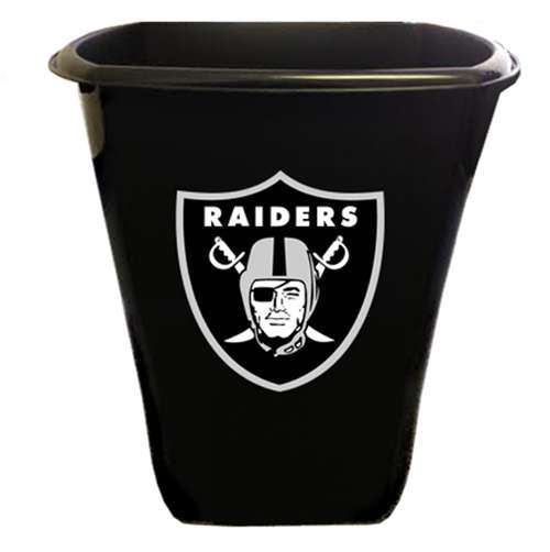 New Black Finish Trash Can Waste Basket Featuring Oakland Raiders NFL Team  Logo