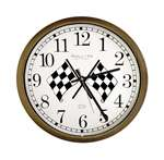 New Clock w/ Checkered Flag Racing Logo