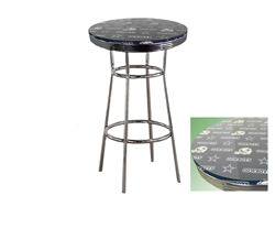 Dallas cowboys nfl football glass top chrome metal finish bistro pub dallas cowboys nfl football glass top chrome metal finish bistro pub bar table watchthetrailerfo