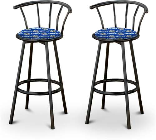 Admirable 2 24 Tall Detroit Lions Nfl Football Themed Specialty Custom Black Barstools Beutiful Home Inspiration Xortanetmahrainfo