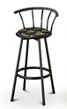 barstools black backrest back rest bar stools stool swivels foot rest ring cushion seat cave man chair chairs diner metal dining finish pad padded pub pubstools restaurant
